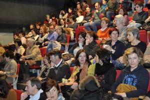 Imagen de Alberto Benavente recogida minutos antes del inicio de una de las charlas