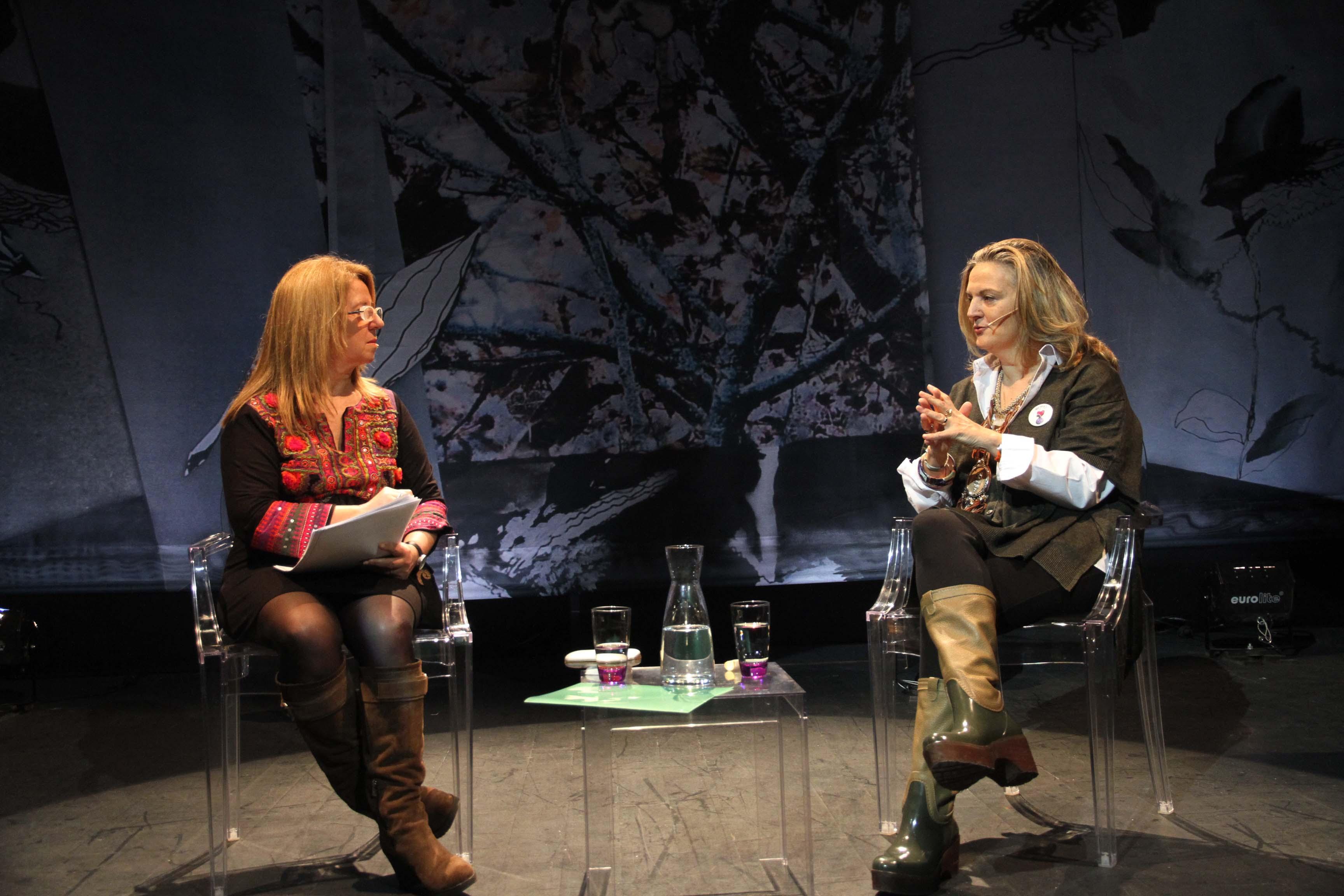 Alicia G. Montano (izd) en conversación con Pilar Mateo