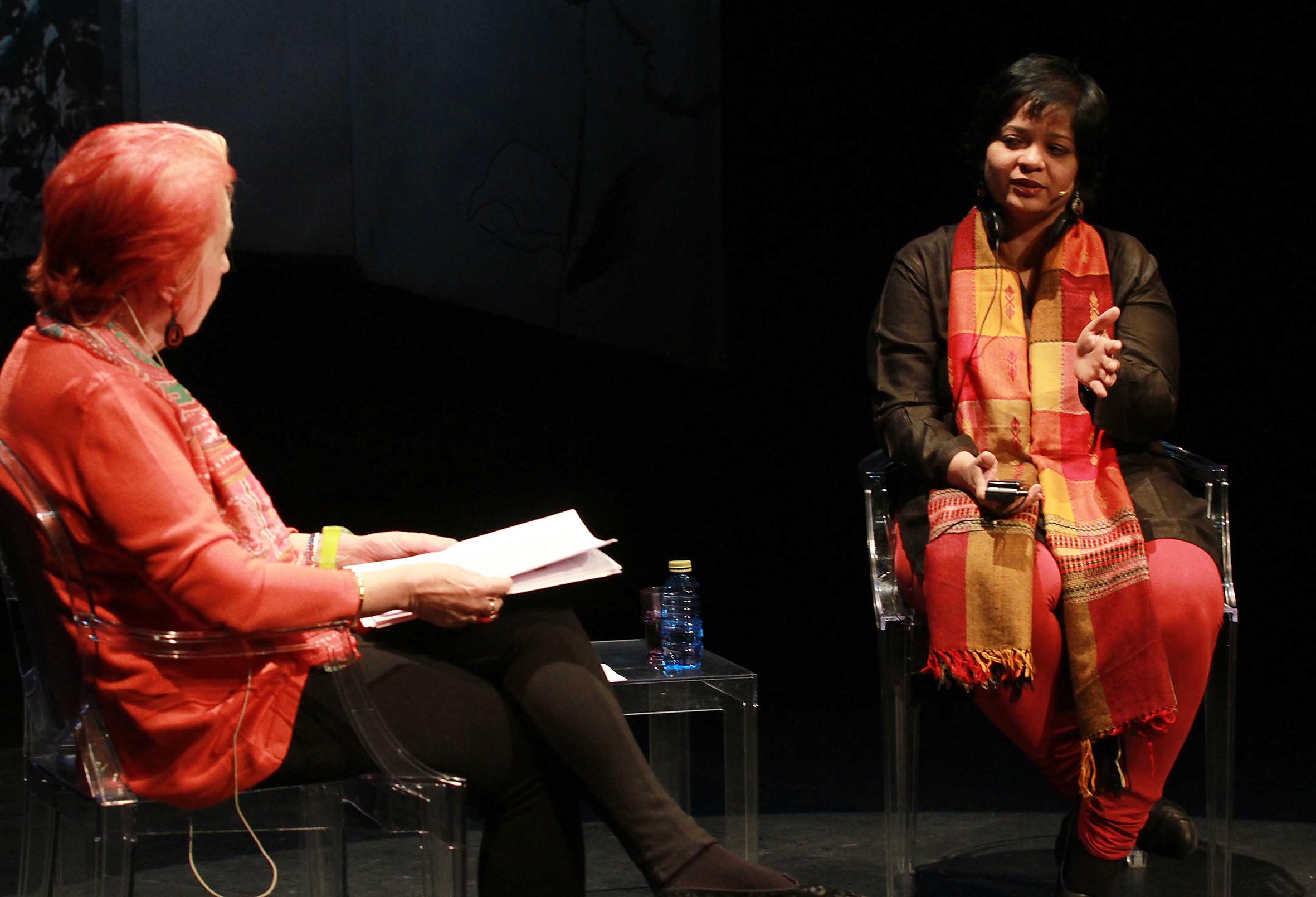 Rosa Maria Calaf y Manjula Pradeep. Foto: Rosa Blanco