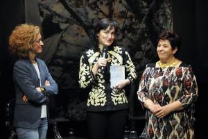 """Begoña García-Zapirain recibe el I Premio """"Mujer y Tecnología-Fundación Orange"""" de manos de la alcaaldesa de Segovia, Clara Luquero y de la Directora de Orange, Rocío Miranda de Larra"""