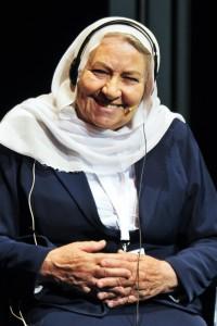 Gamila Hiar en todo su esplendor, una mujer que se ha ganado el respeto de toda la sociedad drusa en Israel. Imagen de Alberto Benavente